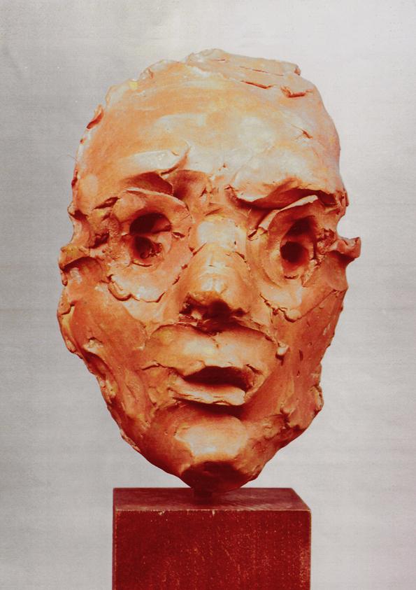 02 Ritratto di Martin Gutmann, terracotta,1998