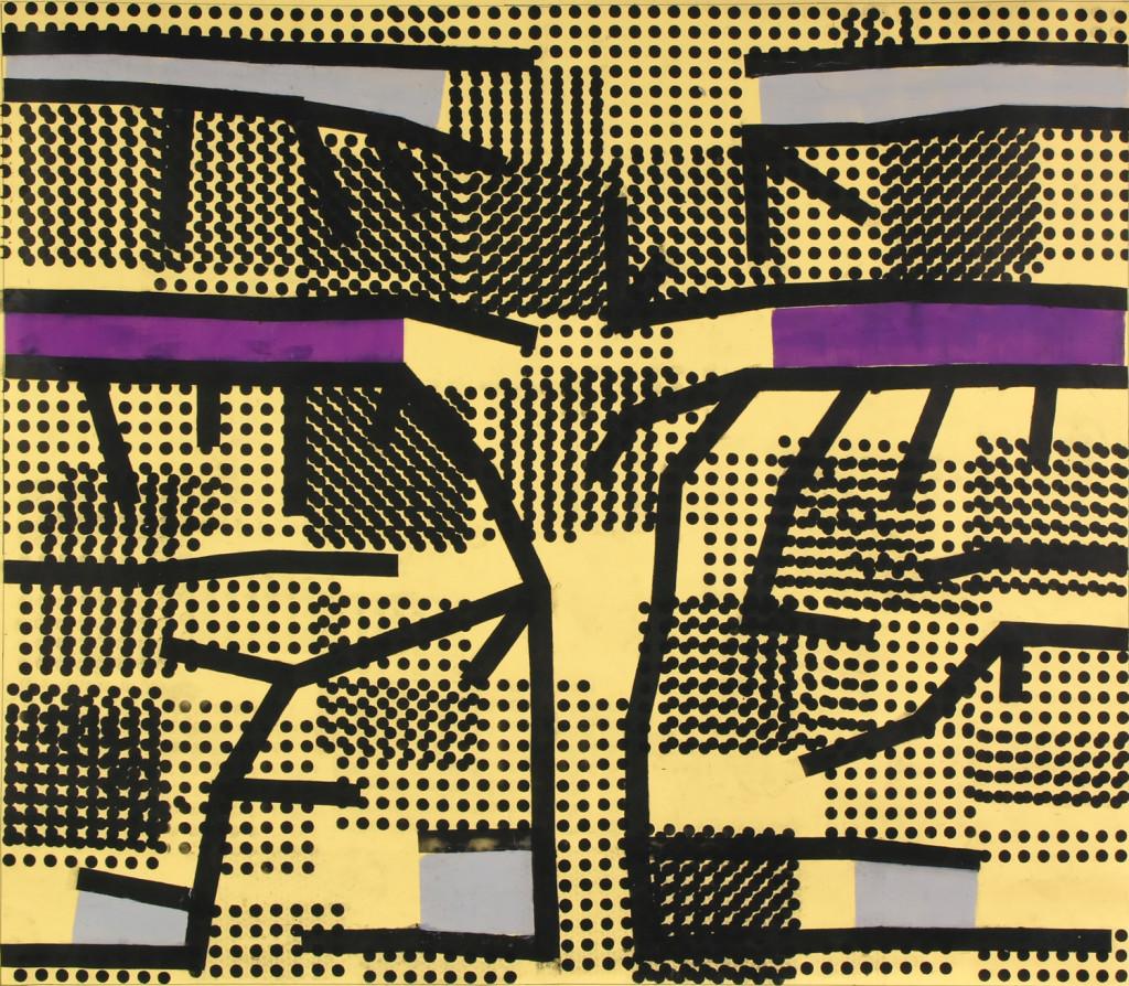 16_ Peak Ground Velocity, olio su carta intelata, 192,7x165,2cm, 2011