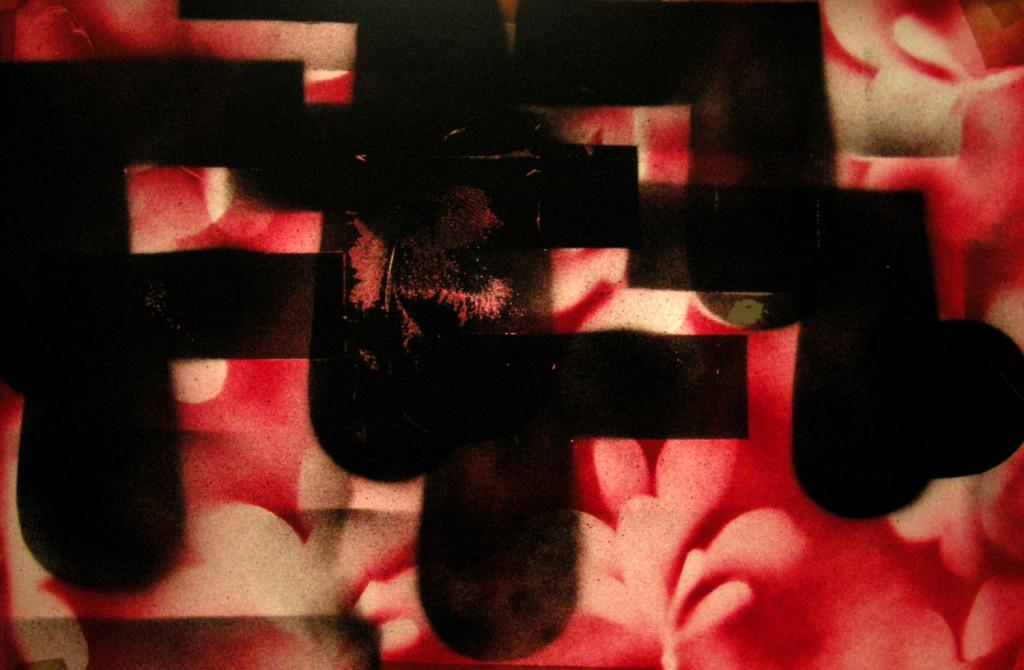 17 Alchimia Prima, spray su carta da lucido 48x32 cm, 2008