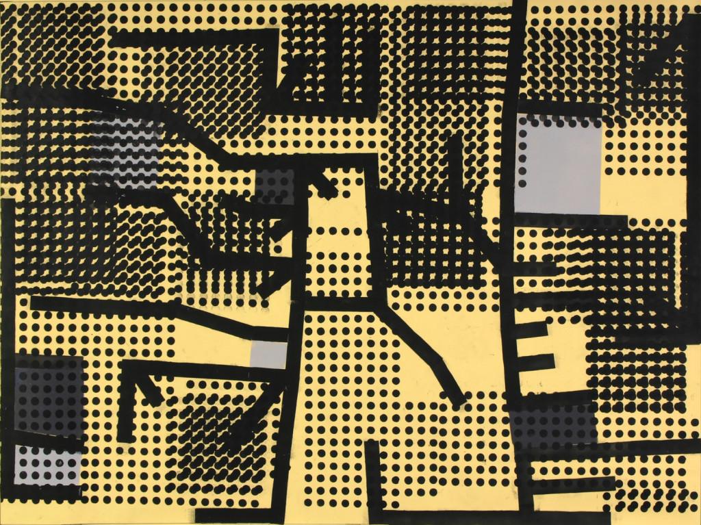 17_ Peak Ground Velocity, olio su carta,192,2x144,2 cm, 2011