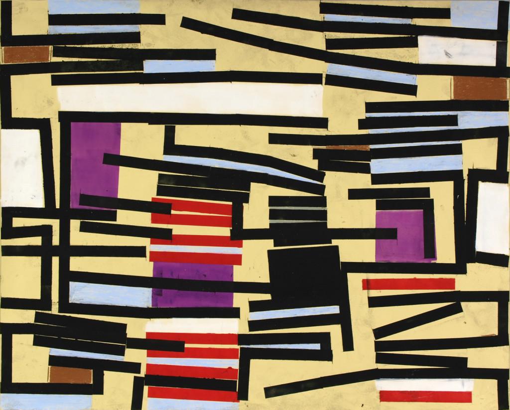 18_ Peak Ground Velocity, olio e pastello su carta intelata, 190,2x150 cm, 2011