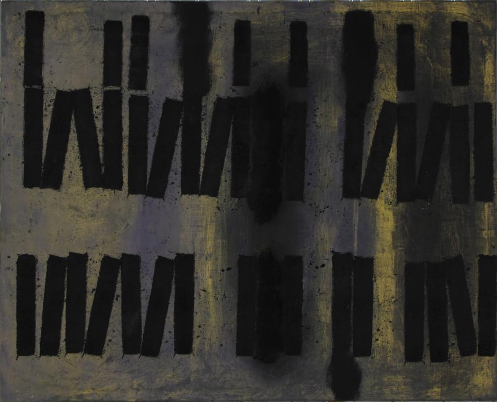 20 Labirinto + Nuvole, olio e aniline su tela, 105x85 cm, 2009