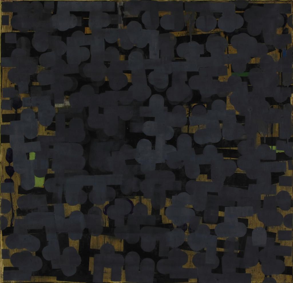 29 Senza titolo, olio su carta intelata, 146x140 cm, 2010