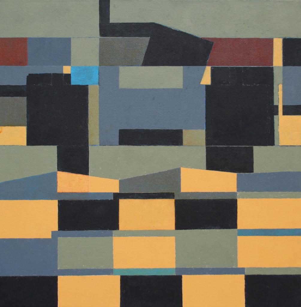 4a Architettura Natura, olio e acrilico su tela, 50x50 cm, 2005 2006