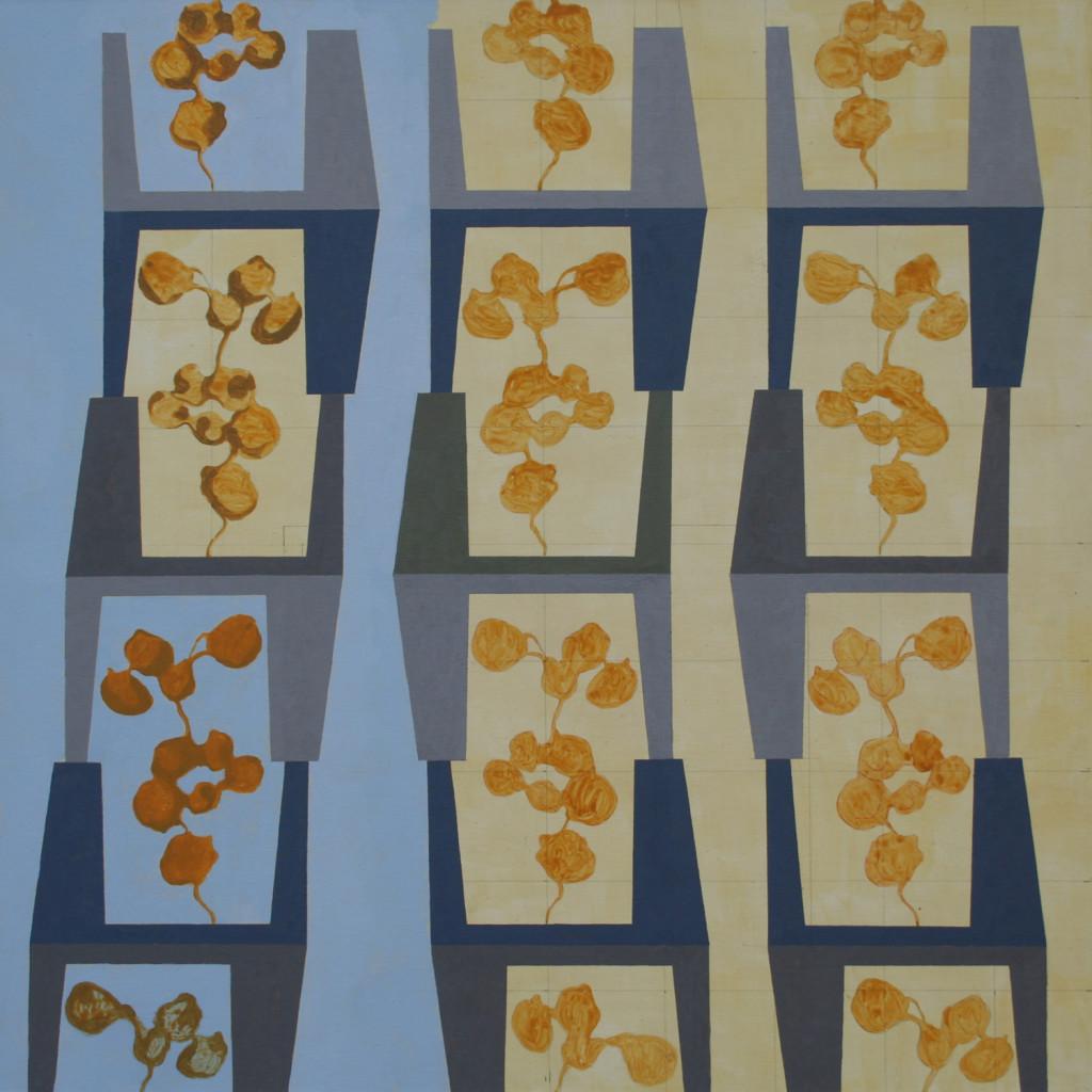 6b Architettura Natura, acrilico e matita su tela, 60x60 cm, 2006 2007