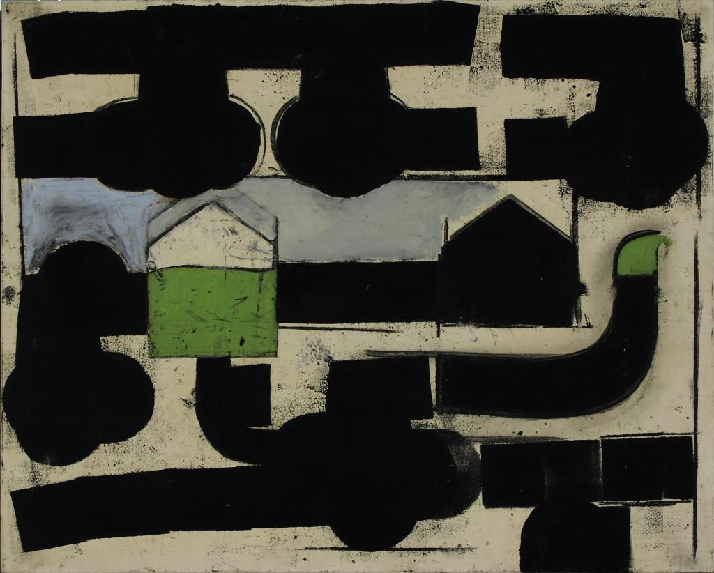 2a_-una-casa-verde-olio-pastello-e-carboncino-su-tela-55x45-cm-2010